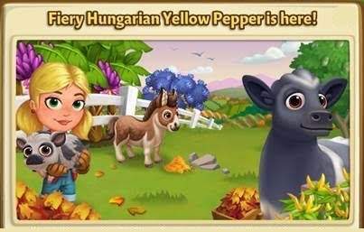 Fiery Hungarian Yellow Pepper is here LE - FarmVille 2