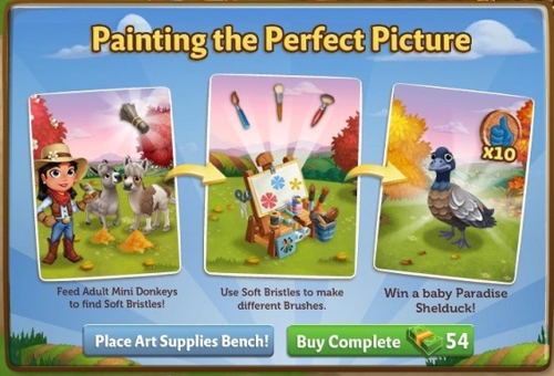 Art Supplies Bench - FarmVille 2