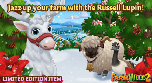Jazz up your farm with the Russell Lupin LE - FarmVille 2