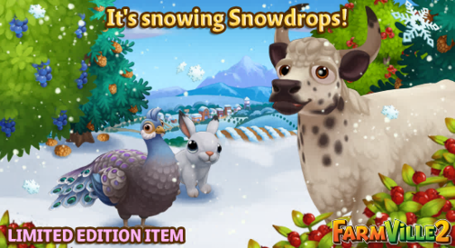 It's snowing Snowdrops LE - FarmVille 2