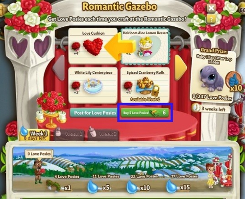 Romantic Gazebo - FarmVille 2