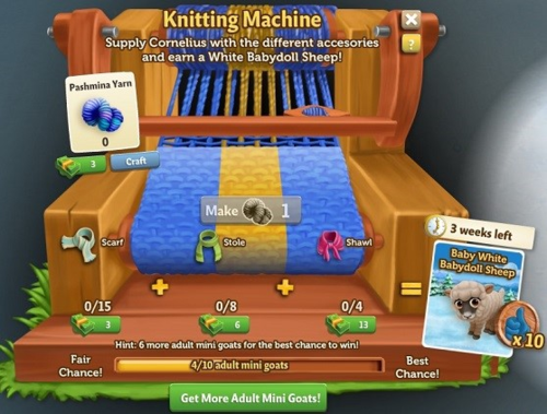 Knitting Machine - FarmVille 2