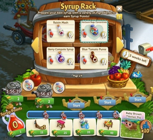 Syrup Rack - FarmVille 2