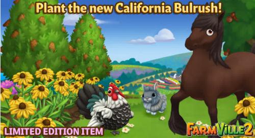 Plant the new California Bulrush LE - FarmVille 2