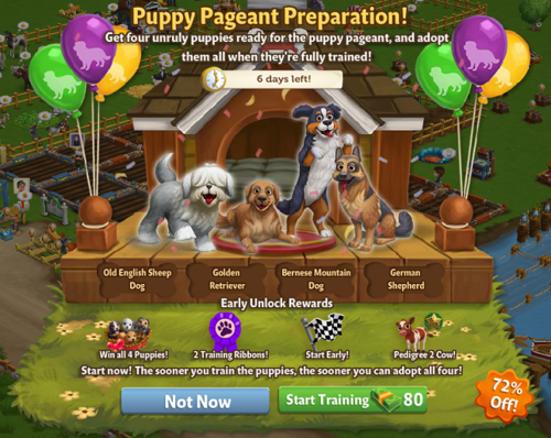 Puppy Pageant - FarmVille 2