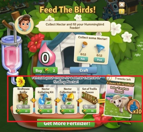 Hummingbird Feeder - FarmVille 2
