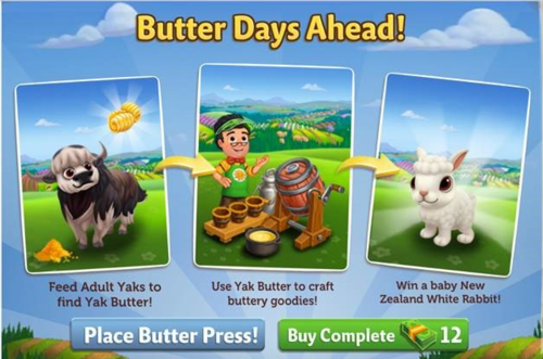 Butter Days Ahead - FarmVille 2