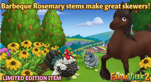 Barbeque Rosemary stems make great skewers LE - FarmVille 2