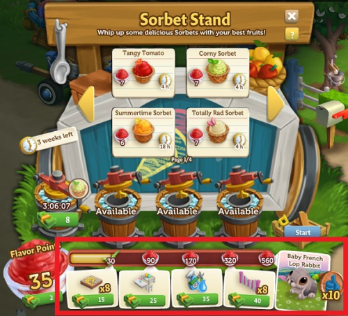 Beat The Heat With Sorbet - Farmville 2