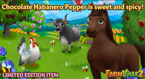 Chocolate Habanero Pepper is sweet and spicy LE - FarmVille 2