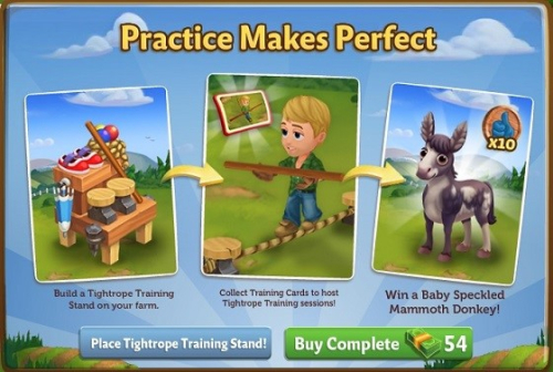 Tightrope Training Stand - FarmVille 2