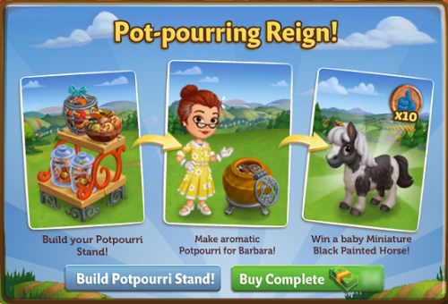 Pot-pourring Reign! - FarmVille 2