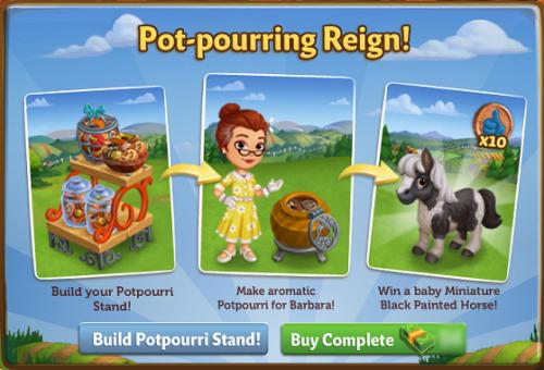 Pot-pourring Reign! - FarmVille 2