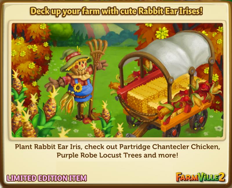 Deck up your farm with cute Rabbit Ear Irises! LE - FarmVille 2
