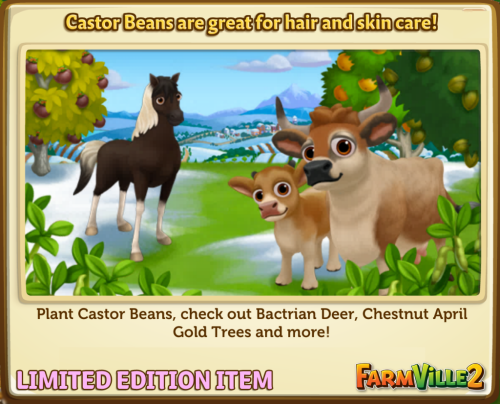 Castor Beans are great for hair and skin care LE - FarmVille 2