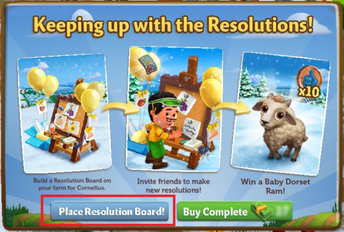 Resolution Board! - FarmVille 2