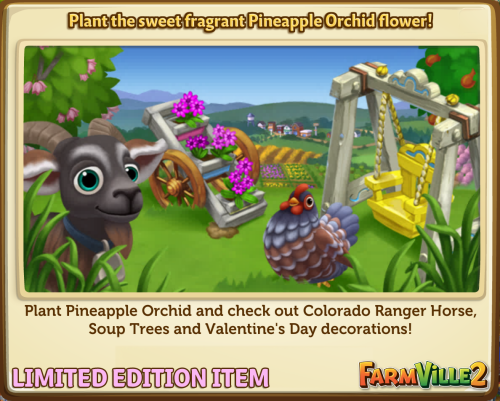 Plant the sweet fragrant Pineapple Orchid flower! LE - FarmVille 2