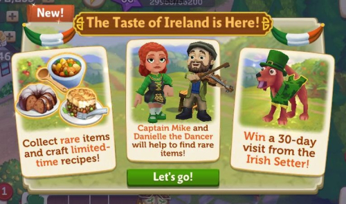 "FV2 CE: ""Taste of Ireland Event"""