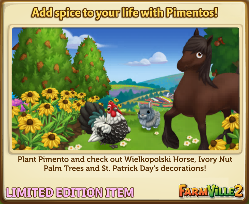 Add spice to your life with Pimentos! - FarmVille 2