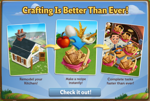 Crafting Improvements - FarmVille 2