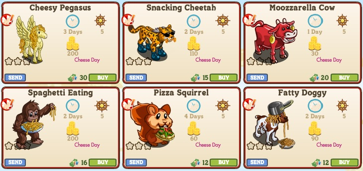 LE Cheese Day Animals