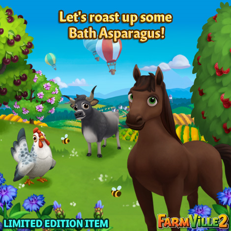 Let's roast up some Bath Asparagus LE - FarmVille 2