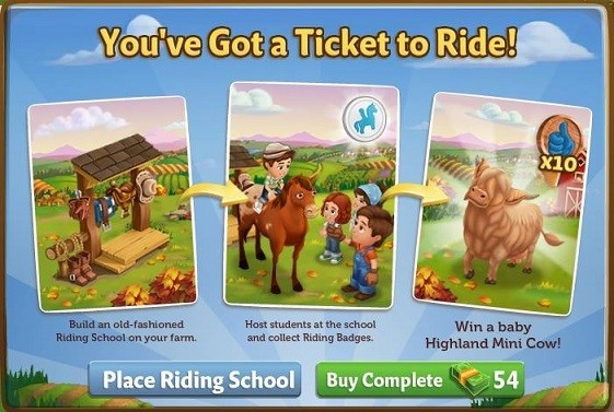Riding School - FarmVille 2