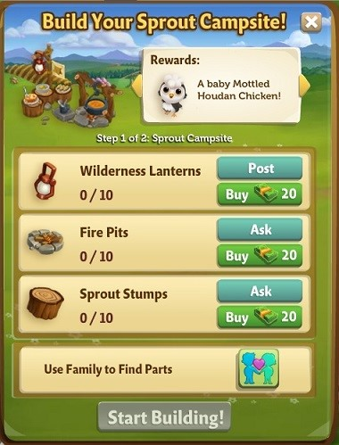 Sprout Campsite - FarmVille 2