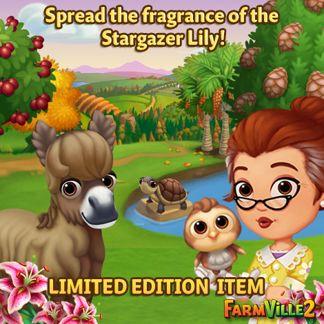 Spread the fragrance of the Stargazer Lily LE - FarmVille 2