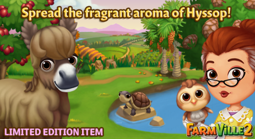 Spread the fragrant aroma of Hyssop LE - FarmVille 2