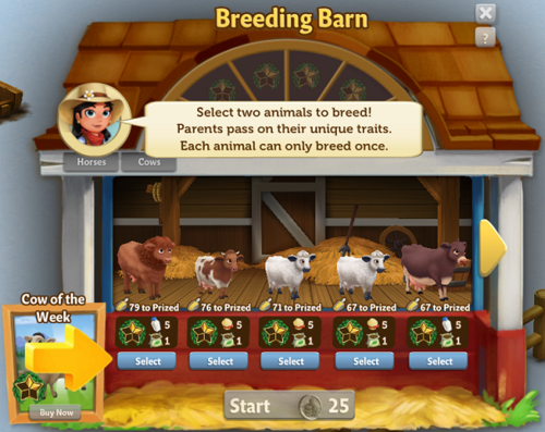 Cow Breeding - FarmVille 2