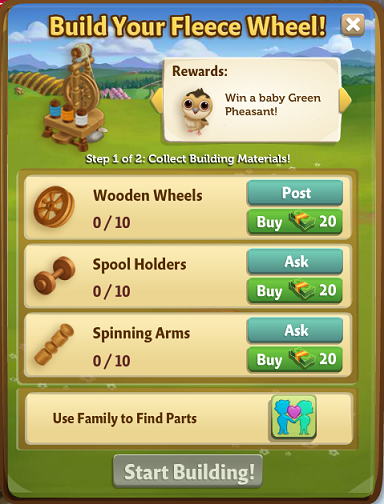 Fleece Wheel - FarmVille 2