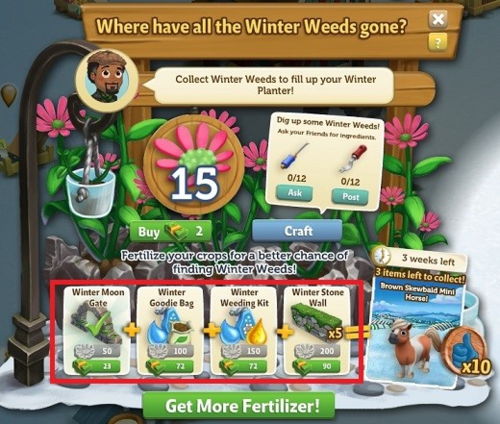 Winter Weeds - FarmVille 2