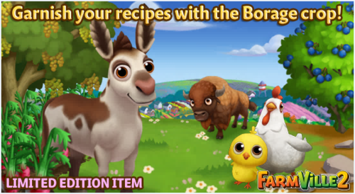 Garnish your recipes with the Borage crop LE - FarmVille 2