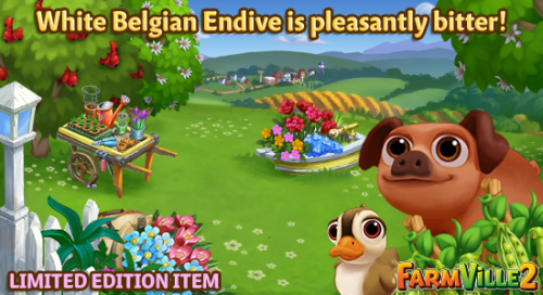 White Belgian Endive is pleasantly bitter LE - FarmVille 2