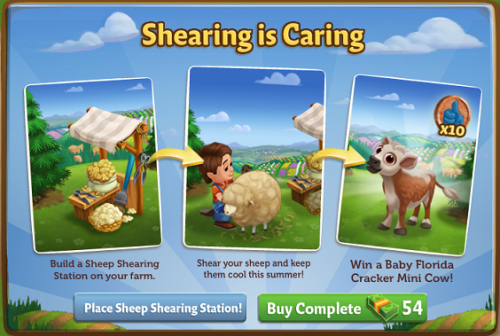 Shearing is Caring - FarmVille 2