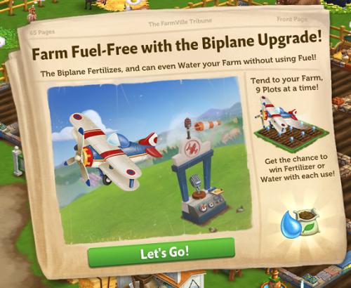 BIPLANE UPGRADE - FarmVille 2