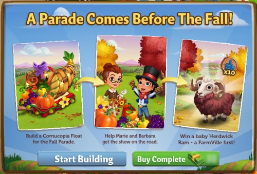 A Parade Comes Before The Fall! - FarmVille 2