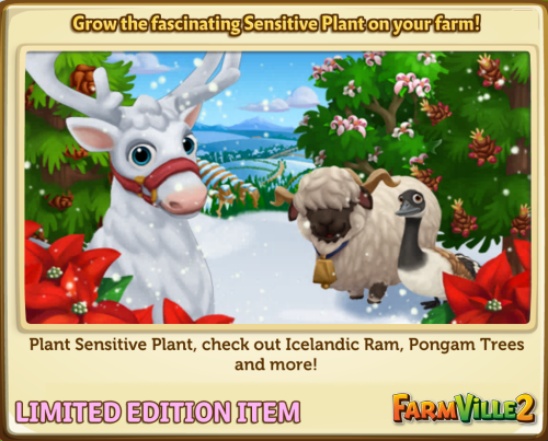 Grow the fascinating Sensitive Plant on your farm LE - FarmVille 2