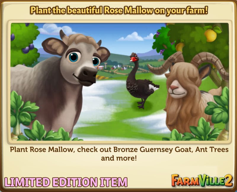 Plant the beautiful Rose Mallow on your farm! LE - FarmVille 2