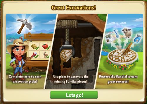 Great Excavations - FarmVille 2