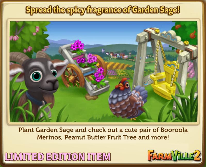 Spread the spicy fragrance of Garden Sage! - FarmVille 2