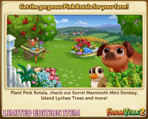 Get the gorgeous Pink Rotala for your farm! LE - FarmVille 2