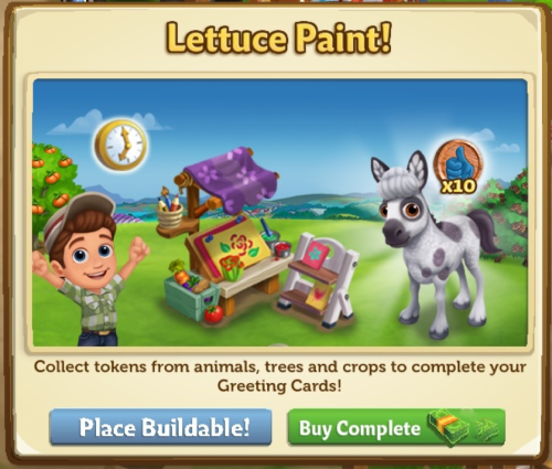 Lettuce Paint - FarmVille 2