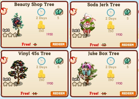 LE 1950 Set 1 Trees