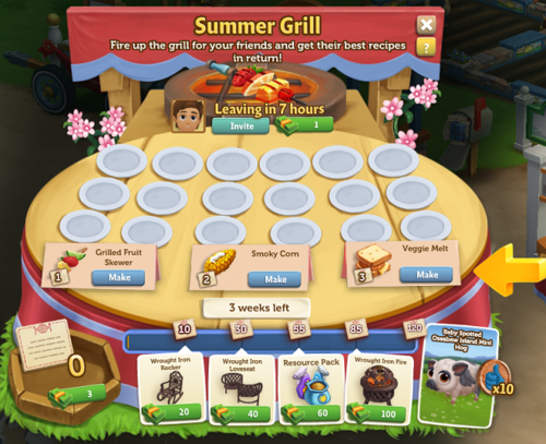 Summer Grill - FarmVille 2