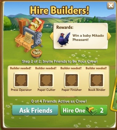Paper Press - FarmVille 2