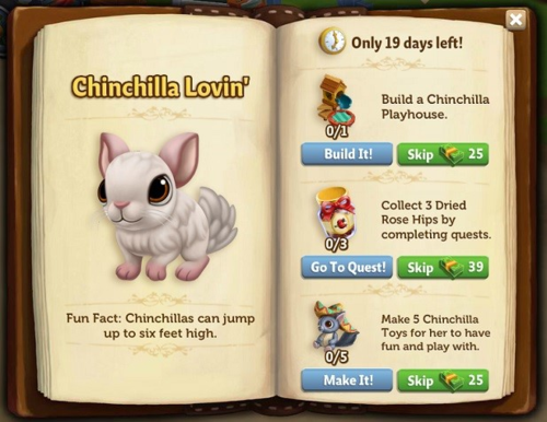 Tender Loving Chinchilla - FarmVille 2