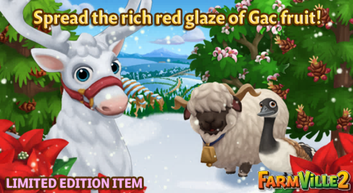 Spread the rich red glaze of Gac fruit LE - FarmVille 2