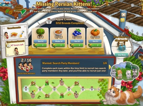 Missing Persian Kittens - FarmVille 2